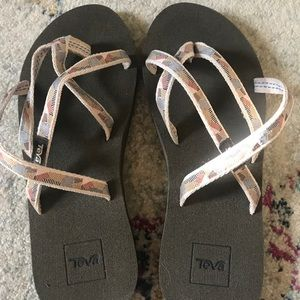 Multicolored Teva sandals